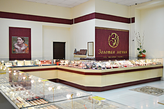 Лучшее оформление торгового зала. Магазин площадью торгового зала до 100 м2.  Ювелирный магазин « 482741fbcfc
