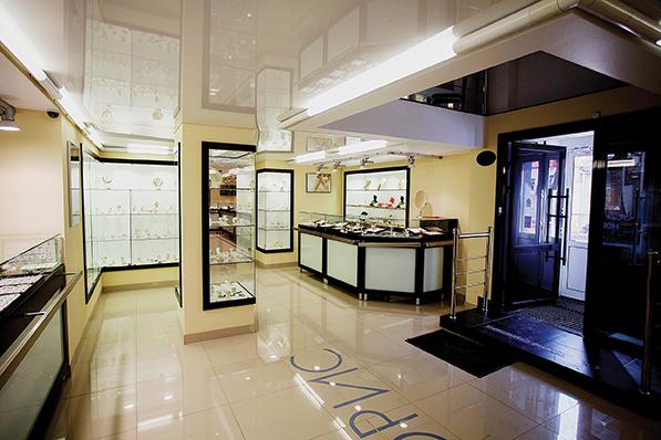 Лучшее оформление торгового зала. Салон площадью торгового зала до 500 м2.  Ювелирный салон « 39db1d0de3d