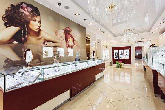 Лучшее оформление торгового зала. Магазин площадью торгового зала от 300 до  500 м2. Ювелирный 7a08d6ea093