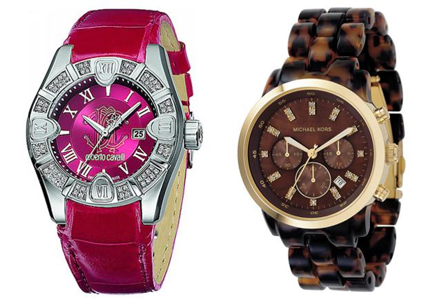 Модные женские часы 2013. Грубые, схожие с мужскими, часы подчеркивают хрупкость девичьего образа, а также придают